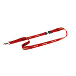 Textile Lanyard with Safety Lock and Carabiner