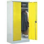 Workplace Clothing Cupboards with 1 Compartment & Clothes Rail