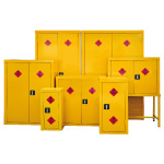 Cabinets from large hazardous storage cabinets to small parts cabinets and most things in between
