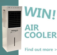 Win this Air Cooler when you spend £150+VAT. Offer code AIRCOOLER