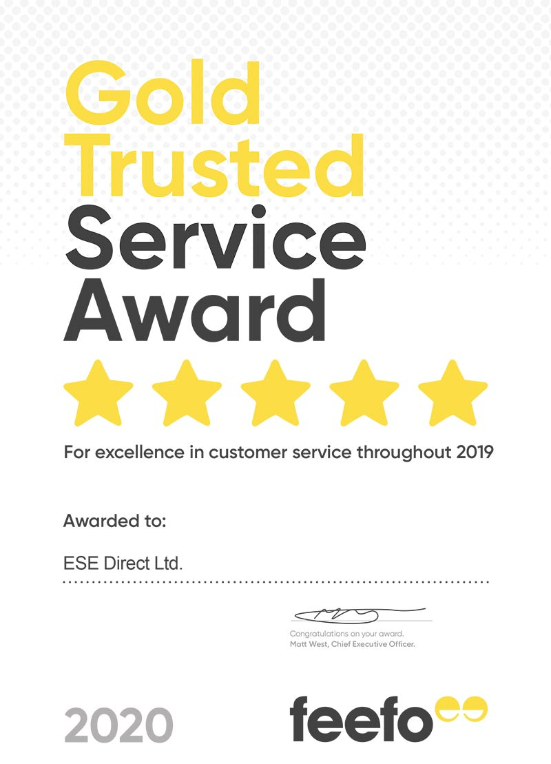 ESE Direct awarded Gold Trusted Service Award 2020
