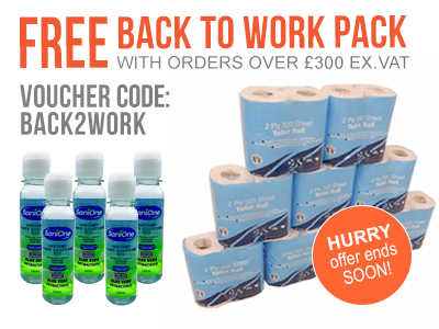 Get a free loo rolls and hand sanitiser when you spend £300+VAT at ESE Direct with offer code BACK2WORK