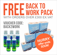free loo rolls and hand sanitiser with orders over £300