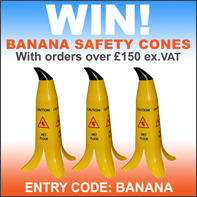 entry into a draw for 3 banana cones with orders over £150!