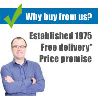 Why buy from us? We were established in 1975, we offer FREE delivery and have a price promise