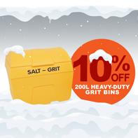 10% OFF heavy-duty 200L grit bins