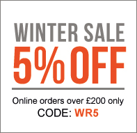5% off orders over £200 with code WR5