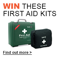 Enter draw to win these first aid kits when you spend £150+VAT. Offer code FIRSTAIDKITS