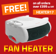 Free Fan Heater when you spend £399+