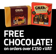 FREE Gnaw chocolate on orders over £250+VAT