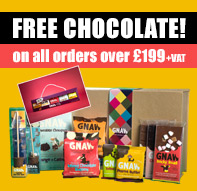 Free Gnaw chocolate on all orders over £199 +VAT with code CHOC199
