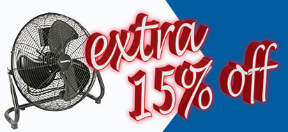 Up to an extra 15% off Industrial Fans