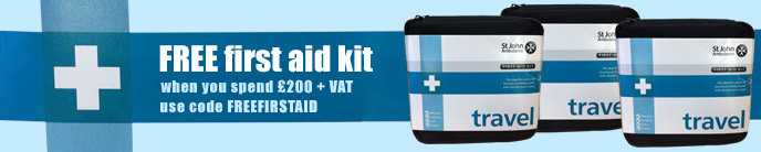 FREE First aid kit when you spend £200 + VAT