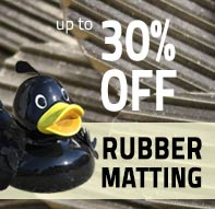 Up to 30% off rubber matting at ESE Direct