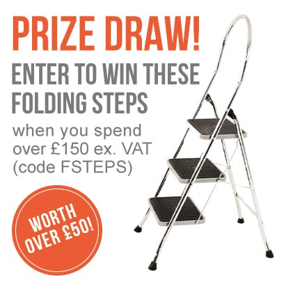 Get a chance of winning a Step ladder when you spend £150+VAT at ESE Direct with offer code FSTEPS