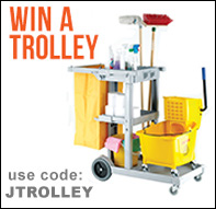 Enter our draw to win a janitor trolley with orders over £150