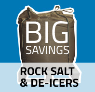 BIG savings on rock salt and de-icers