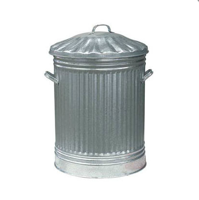 Traditional Galvanised Steel Bin