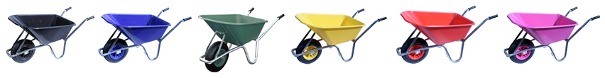 A Rainbow of wheelbarrows