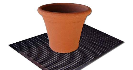 Rubber matting used for gardening