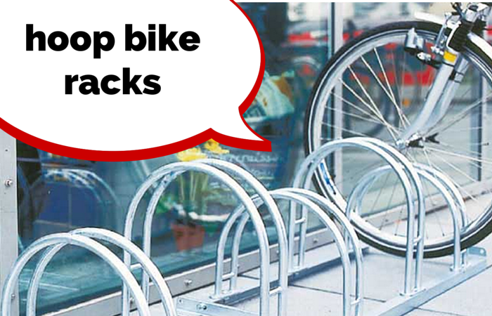 Hoop cycle racks