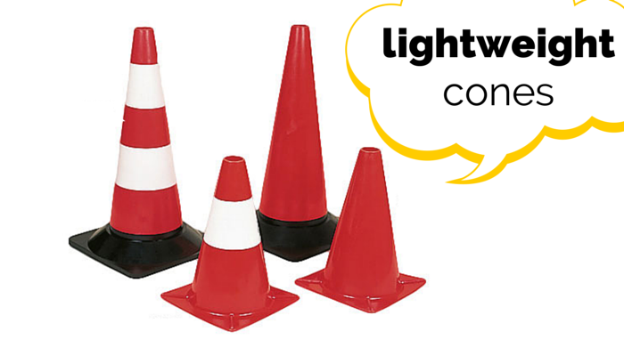 Lightweight Traffic Cones