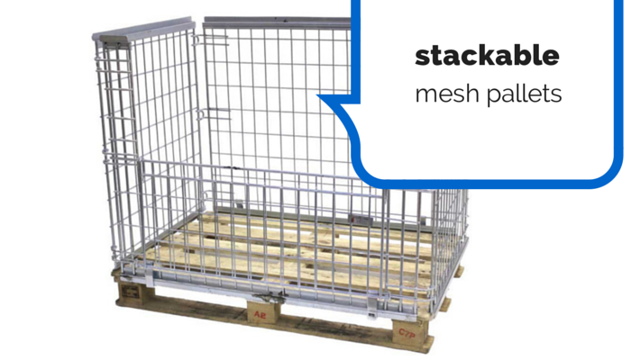 stackable mesh pallets