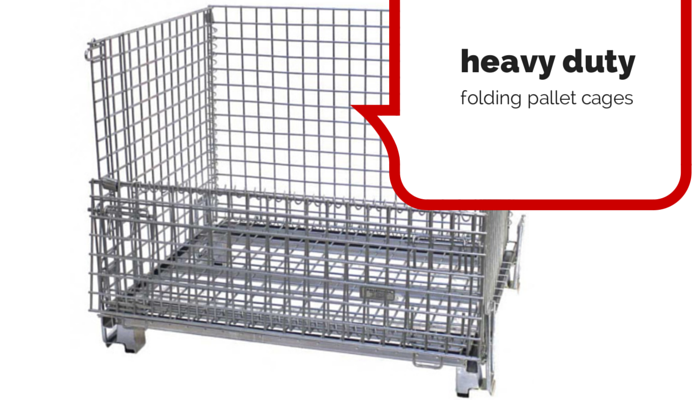 heavy duty folding pallet cages