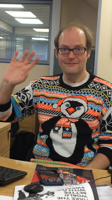 Martin in his penguin christmas jumper