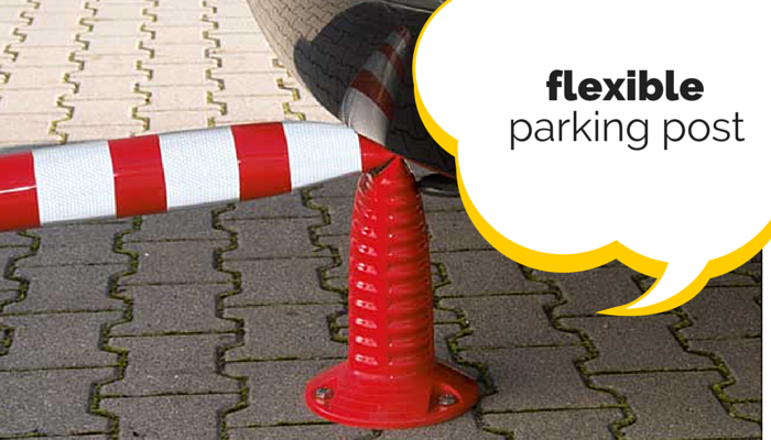 flexible parking post