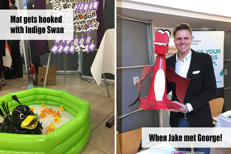 Mat the Rubber Duck joins the tiny ducks in the the Indigo Swan Pond and George enjoys a selfie with Jake Humphrey
