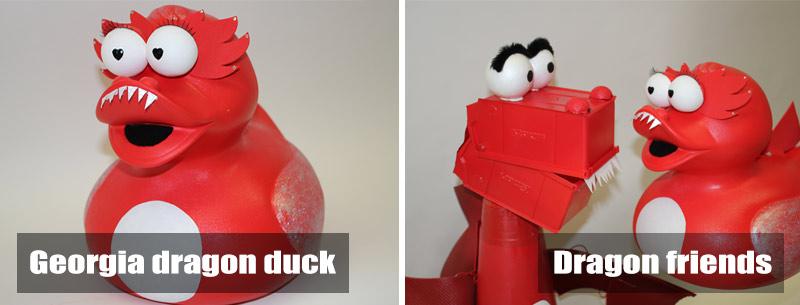 Duck to dragon transformation