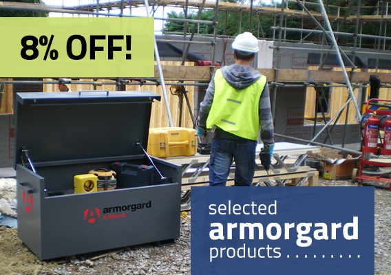Get 8% off selected Armorgard products until end of September at ESE Direct