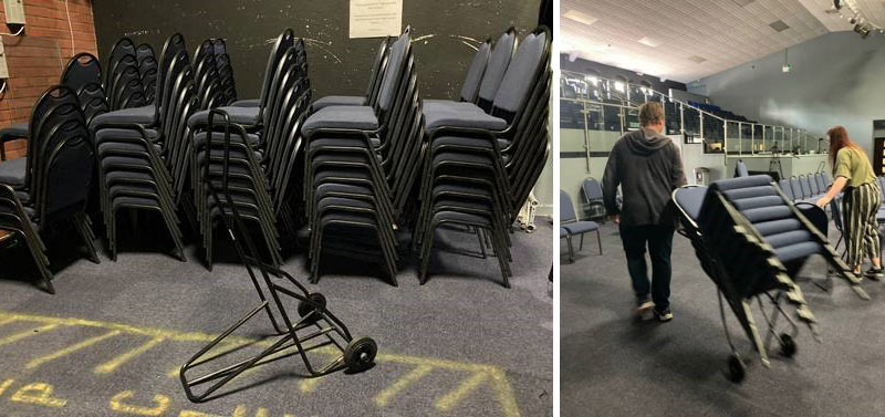 Bedworth Life Church making great use of their new stacking chair trolley