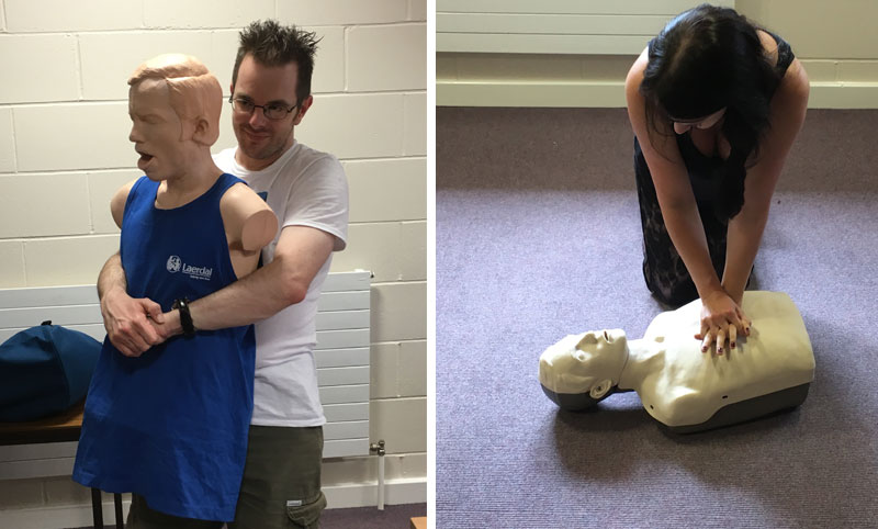 Jason and Debs undertake first aid training