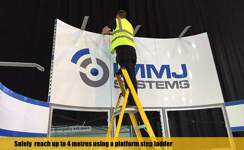 Safely reach up to 4 metres using GRP platform steps