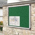 Emerald green showcase noticeboard