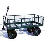 Green mesh platform truck