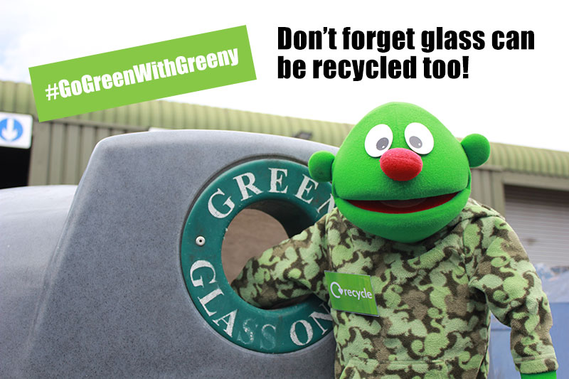 Go Green With Greeny - recycle glass bottles and jars