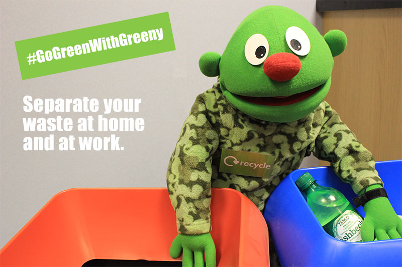 Go Green With Greeny - recycle at home and at work