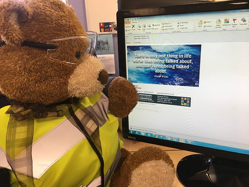 Health and Safety Bear says, Don't print emails unless you really really need to