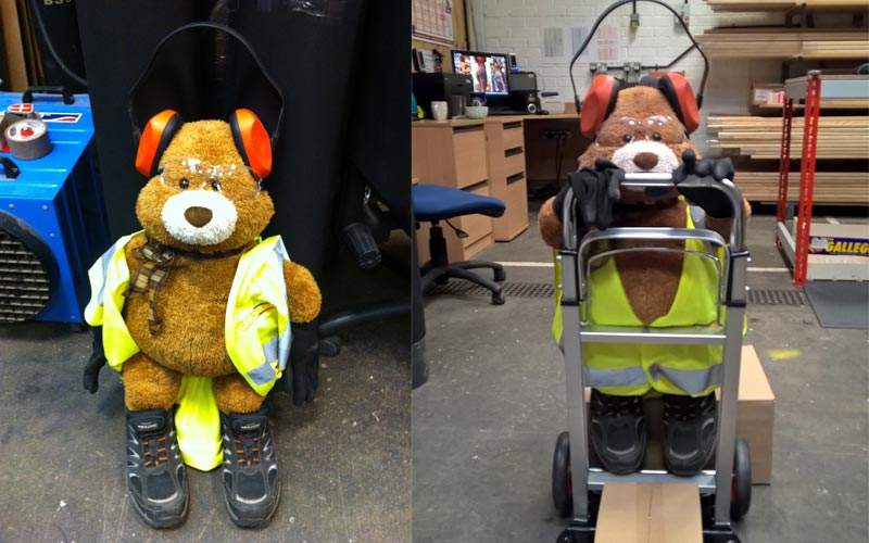 Health and Safety Bear - he'll be able to reach some day