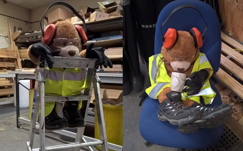 Health and Safety Bear - tea time