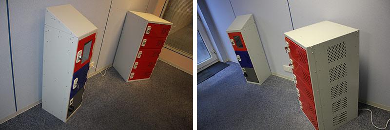 steel charging lockers