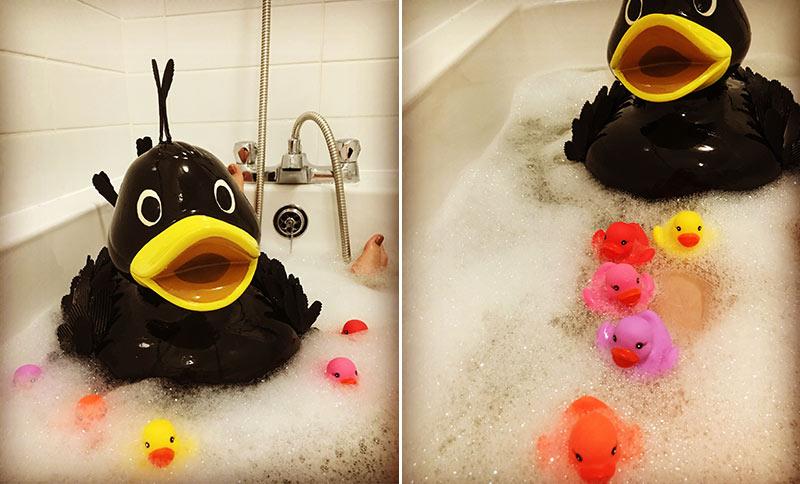 Mat and The Matlettes enjoy a bubble bath