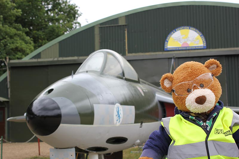 Health and Safety Bear takes on the role of air traffic controller