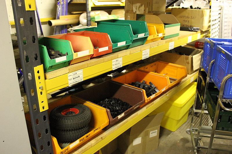 warehouse picking bins