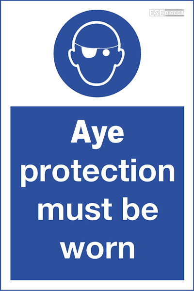 Aye protection sign for pirates