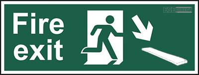Fire Exit sign for pirates