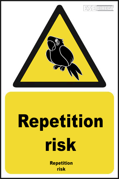 Repetition risk sign for pirates